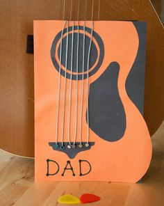 Guitar Card - Father's Day gift kids can make themselves
