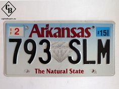 Placa - Matrícula metálica original de USA - Arkansas 793 SLM | Capital Buyers