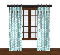 This listing is for one unlined cotton curtain panel with a rod pocket. These can be hung flat, gathered or with ring clips (not included).