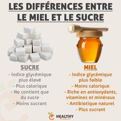 La différence entre le miel et le sucre
