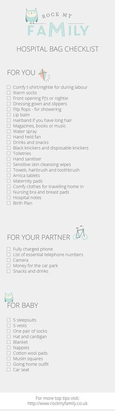 What Do You Pack in Your Hospital Bag? - Rock My Family | UK baby, pregnancy and family blog - hospital-bag-checklist