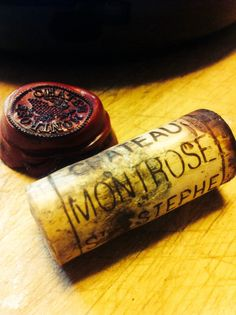 Chateau Montrose '93 ... dark ruby red ... strong flavored nose, cedar, cigar, medium- bodied, tons of tanin, dark chocolate, not that long ... will last min. 5 more years