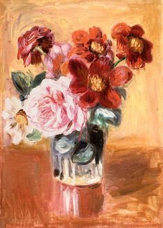 bofransson:    Bouquet of Peonies and Anemones Pierre Auguste Renoir