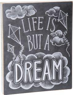 Item # 25287   Chalk Sign - A Dream   Primitives by Kathy