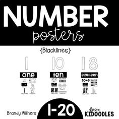 Number Posters Number Posters show all the ways that numbers can be represented! This product includes BLACKLINES ONLY. Save ink and copy on Astrobright paper or cardstock. There is a separate poster of just numbers to cut out and put above the poster