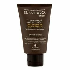 Alterna Bamboo Men Thickening Gel-Lotion with SPF 15 (For Strong Hair) - 75ml/3oz by Alterna. $25.24. A lightweight, water-resistant gel lotion With a non-irritating, non-sticky & rapid-drying formula Contains pure Organic Bamboo Extract to reinforce hair Blended with Hemp Seed Oil for intensely hydrating action Adds thick, full-bodied volume to thinning hair Protects exposed scalp areas from the damaging UV rays with SPF 15 Creates fuller, thicker & more manageable hair