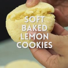 These lemon cookies are soft baked and have plenty of lemon zest, lemon juice, a. - These lemon cookies are soft baked and have plenty of lemon zest, lemon juice, and lemon extract th - Lemon Sugar Cookies, Sugar Cookies Recipe, Yummy Cookies, Lemon Cookies Easy, Soft Baked Cookies, Crinkle Cookies, Homemade Cookies, Lemon Desserts, Lemon Recipes