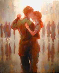 We should be dancing...soyka62 - Lorraine Christie (b. 1967, Belfast )...This looks like sherlock and molly...Sherlolly fovever!