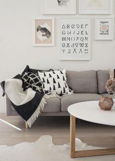 Scandinavian pine tree pillow