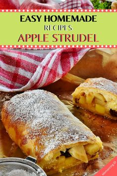 This simple do-it-yourself apple pastry direction found in my grandma's direction box fills your room with the foremost rattling aroma. Made of scratch, the do-it-yourself dough and apple filling area unit straightforward to create – although it's your 1st time creating strudel ! The right homemade or diy for play-dates, bake sales, birthday or #Christmas parties. They're very #health and #tasty! Easy Homemade Apple Strudel – I think you must try this #recipe. Let us know if you loved this reci Easy Homemade Recipes, Quick Recipes, Apple Recipes, Sauce Recipes, Seafood Recipes, Mexican Food Recipes, Beef Recipes, Greenbean Casserole Recipe, Casserole Recipes