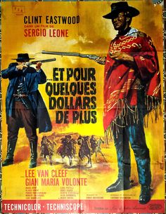1966 for A Few Dollars More Clint Eastwood Western French 47x63 Movie Poster | eBay