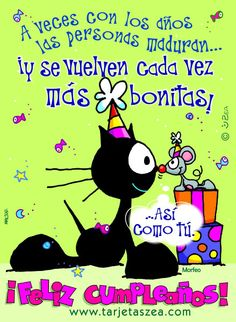A veces con los años las personas maduran... ¡y se vuelven cada vez más bonitas! - ツ Imagenes para Cumpleaños ツ Birthday Wishes For Friend, Birthday Messages, Happy Birthday Cards, Happy B Day Images, Happy Day, English Memes, Illustrations And Posters, Holidays And Events, Friendship Quotes