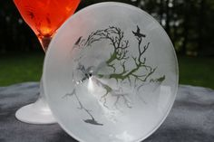The Birds in Trees Frosted Martini Glasses Set by DeeLuxDesigns, $18.00