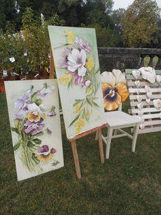Renzo fiori e schienale sedia con panse'