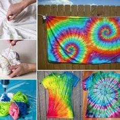 Tie Dye Swirl Technique