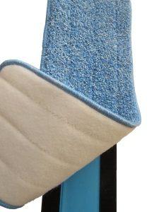 5d1c30587c 18 inch Microfiber Mop Pads with Velcro attachment Backing. 2 Pads per pkg