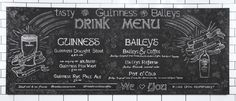 andrea casey chalkboard menu for guinness tasty at buzzfeed hq nyc chalk lettering hand lettered