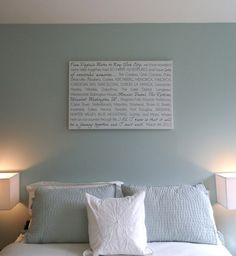 Tell the story of your love on canvas. Makes for great bedroom art!