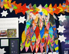 This week we have been celebrating Matariki at school. Matariki is our Aotearoa Pacific New Year. It takes its name from the seven . Maori Symbols, International Craft, Literacy Programs, Out Of This World, Social Science, Art Activities, Cloak, Early Childhood, Wearable Art