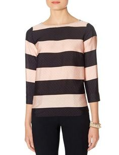 Striped Button Back Blouse from THELIMITED.com - so adorable & classy!