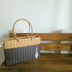 Blog Entry, Paracord, Wicker Baskets, Straw Bag, Diy And Crafts, Bags, Decor, Fabric Purses, Projects To Try
