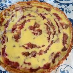 Rhubarb & custard tart @ allrecipes.co.uk