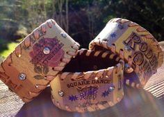Cowgirl Leather cuff, Rodeo Queen, Upcycled by LoveSquaredDesigns, $25.00