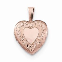 NEW-ROSE-GOLD-OVER-925-STERLING-SILVER-HEART-WITH-FLOWER-BORDER-LOCKET-45