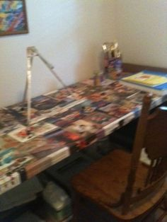 How To Decoupage a Table Top Easily