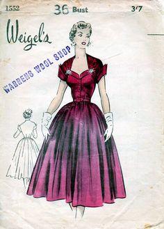 Vintage Weigels' Sewing Pattern 1552