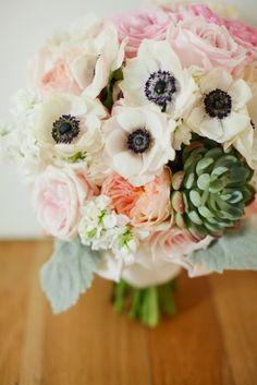 Les moineaux de la mariée: Des succulentes de mariage