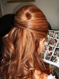 red hair with lowlights - Google Search. I might like to do my hair this color, what do you think?