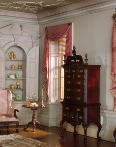 Mrs. James Ward, Thorne miniature period rooms. Pennsylvania Drawing Room, 1761 | The Art Institute of Chicago