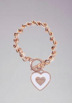 bebe | Logo Heart Chain Bracelet - Jewelry - View All
