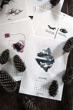 Sélection de calendriers 2016 design et graphiques - Calendrier à imprimer Sara Woodrow