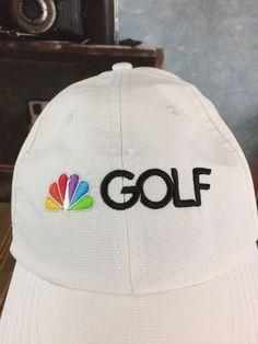 NBC Peacock Logo Golf Embroidered Television Staff White Baseball Hat Adjustable  | eBay