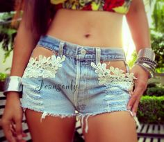 Levi's high waist lace shorts by Jeansonly