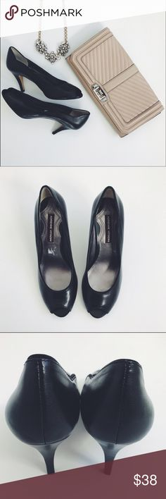 """✨FINAL PRICE✨ Leather Peep Toe Pumps Heels New without box • Tried on but never worn • 3"""" heel Adrienne Vittadini Shoes Heels"""