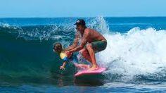 DONAVON FRANKENREITER and son surfing
