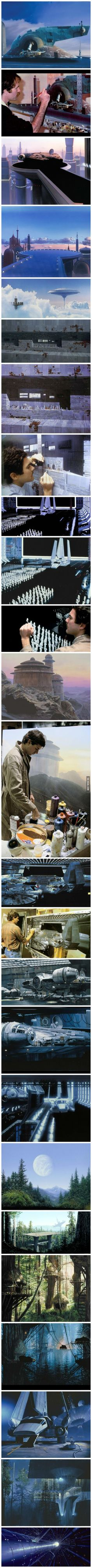 Matte paintings Used In The Original Star Wars Trilogy Totally Out Beat CGI Today