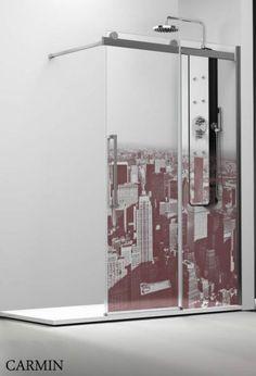 Profiltek Profiltek Dekordusche Moon S Schiebetür Walk in Manhattan