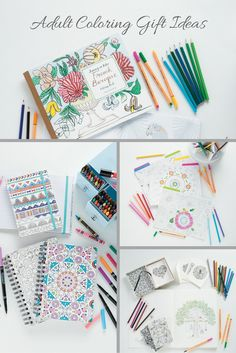 So many ways to enjoy the adult coloring trend with affordably priced coloring books, folders, and more! Give the gift of coloring as a Christmas gift or treat yourself to some new adult coloring supplies.