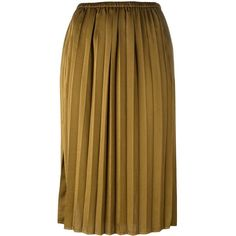 Isabel Marant Étoile 'Heaven' skirt (875 PEN) ❤ liked on Polyvore featuring skirts, knee length pleated skirt, brown pleated skirt, high waisted pleated skirt, brown high waisted skirt and mid length skirts
