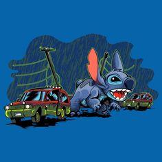 """Life finds a way"" for the experiments to run a muck! Stitch shirt and baby onesie.  #stitch #lilo #liloandstitch #geekshirt #shirtoftheday #shirts #tshirts #kidshirt #nerdshirt #geekshirts"