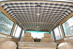 Plaid headliner in wagoneer.... Alex should do this. It would look awesome with the blue exterior color