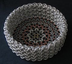 a basket of chainmaille!!!