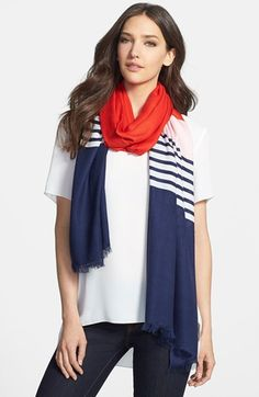 kate spade new york colorblock scarf available at #Nordstrom (go gators)