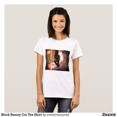 Black Beauty Cat Tee Shirt - Fashionable Women's Shirts By Creative Talented Graphic Designers - #shirts #tshirts #fashion #apparel #clothes #clothing #design #designer #fashiondesigner #style #trends #bargain #sale #shopping - Comfy casual and loose fitting long-sleeve heavyweight shirt is stylish and warm addition to anyone's wardrobe - This design is made from 6.0 oz pre-shrunk 100% cotton it wears well on anyone - The garment is double-needle stitched at the bottom and sleeve hems for…