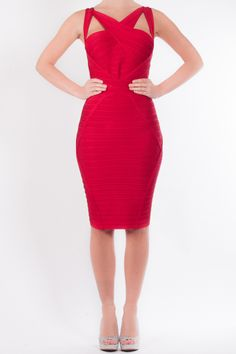 b066ade488c5 Scarlett - Forever Unique bodycon bandage dress with cut out shoulder
