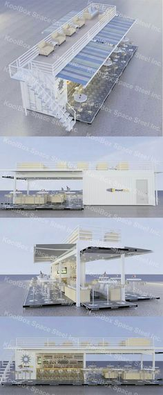 2016 latest shipping container sandbeach coffee shop/bar , hydraulic system mobile container coffee bar/shop for sale, View container bar, KoolBox Product Details from Guangzhou Phenix Imp. Container Home Designs, Shipping Container Design, Shipping Containers, Shipping Container Restaurant, Container Architecture, Container Buildings, Building A Container Home, Container House Plans, Cafe Design